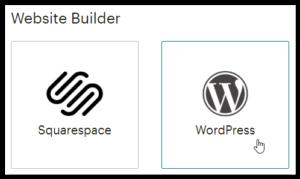 Just Click Here screenshot of WordPress