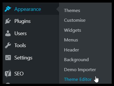 Just Click Here screenshot wordpress theme editor