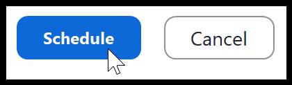 Zoom Schedule button