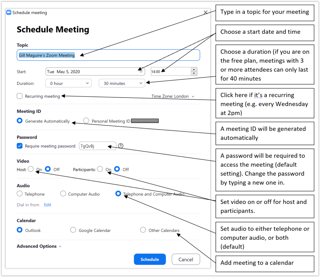 Zoom Meeting form