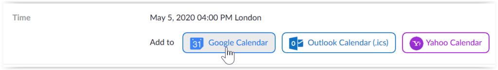 Zoom add calendar