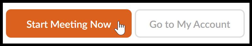 Zoom Start Meeting Button