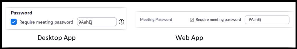 Zoom password protect