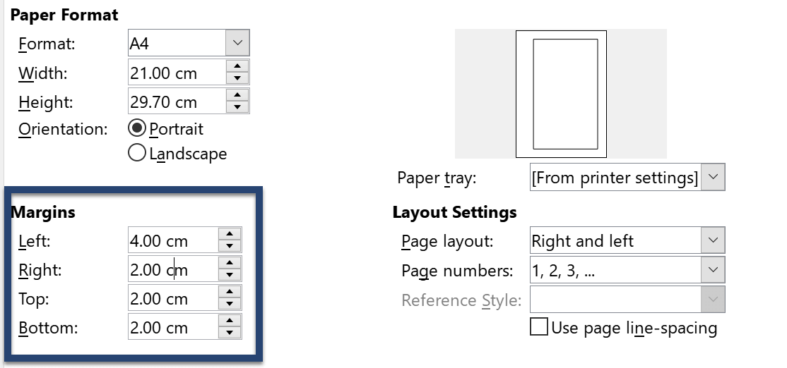 Change Margins in LibreOffice Writer
