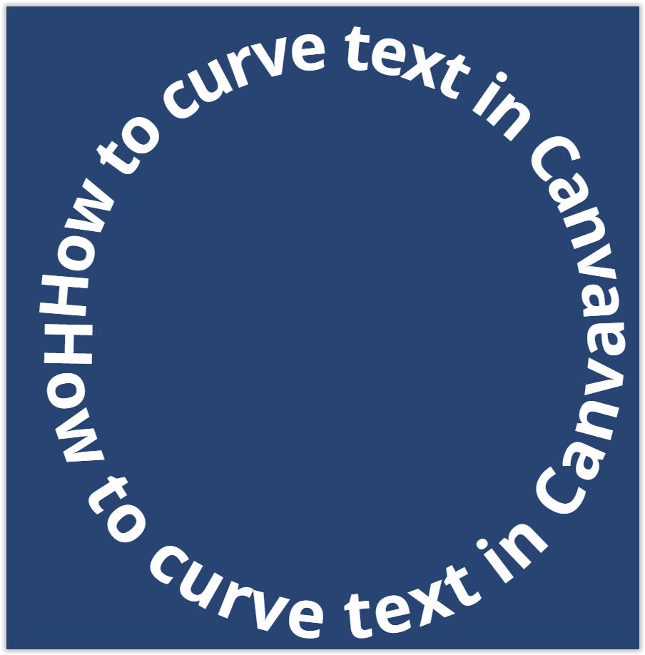 Curved Text in Canva - reflections