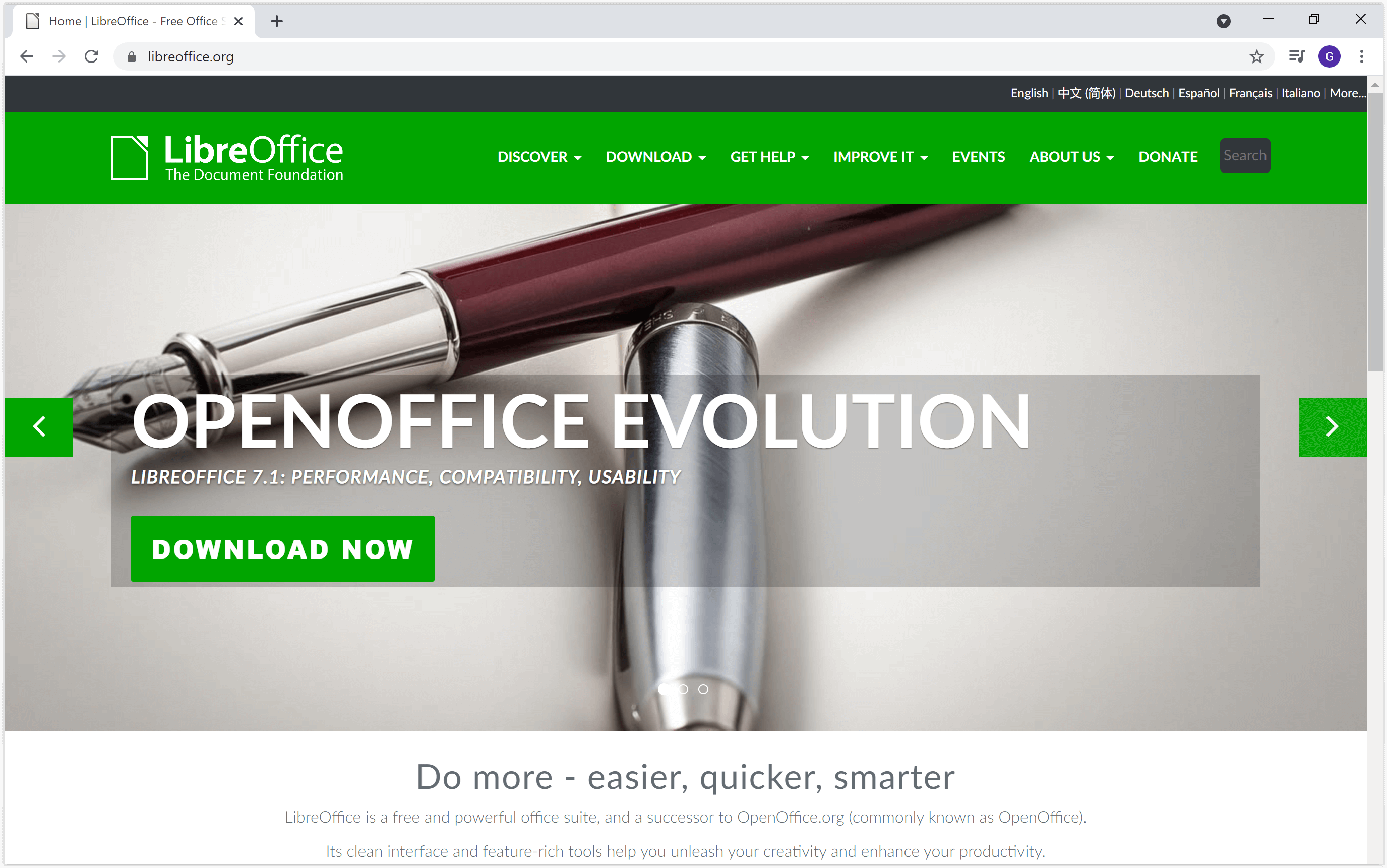 LibreOffice website