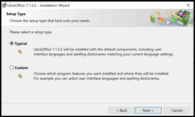 LibreOffice Installation Type