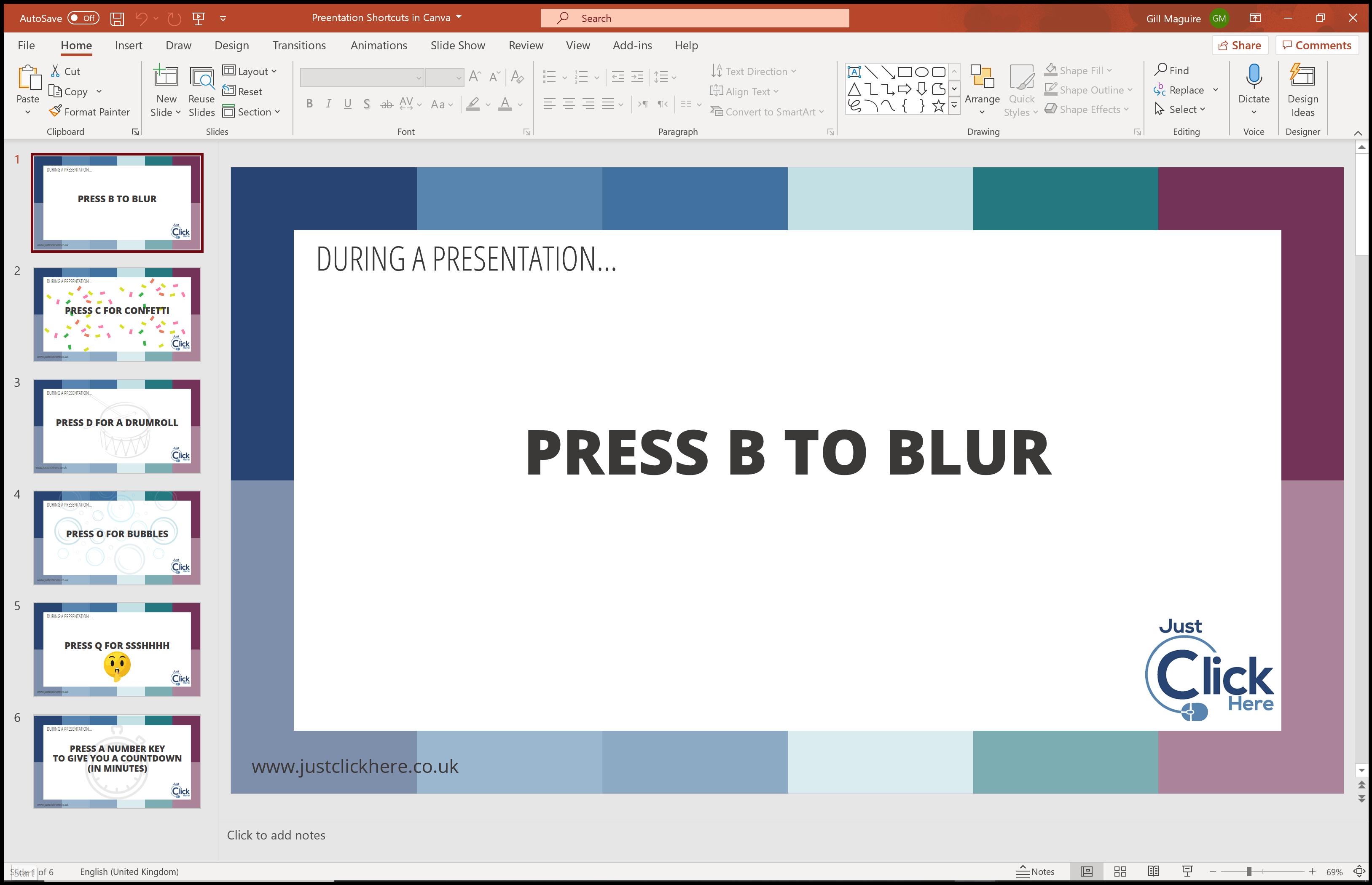 Presentation in PowerPoint