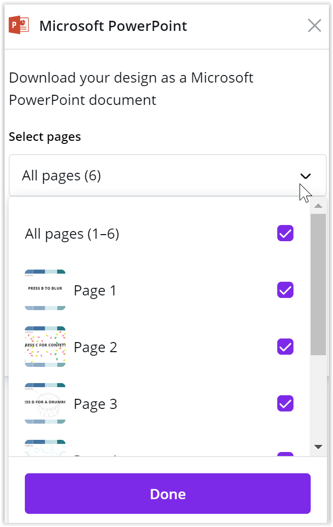 Choose Pages