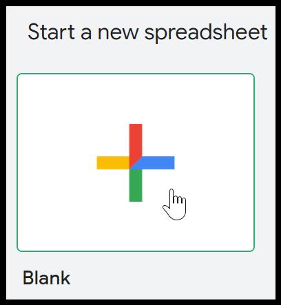 Google Sheets Open Blank Spreadsheet