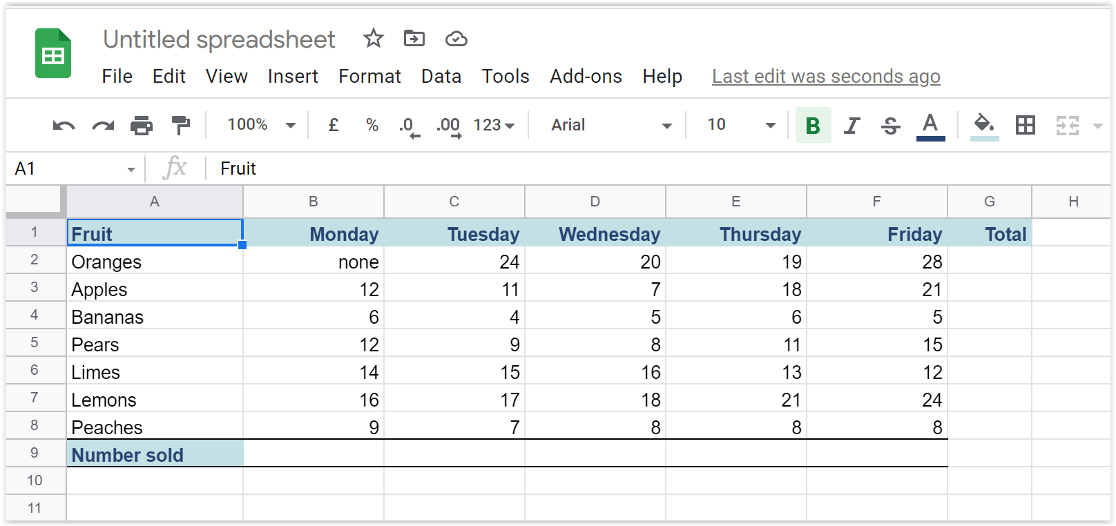 Excel Spreadsheet Imported into Google Sheets