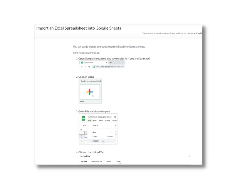 Import an Excel Spreadsheet into Google Sheets