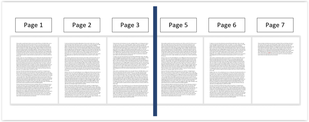 Non-continuous page numbering