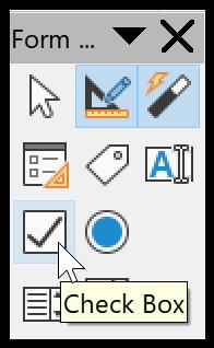 Checkbox / Tick box in LibreOffice Calc