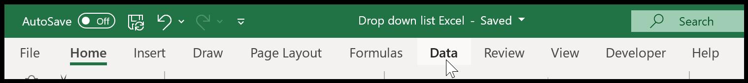 Data Tab